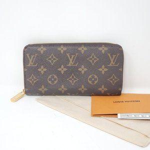 100% Auth Louis Vuitton Monogram Zippy Wallet